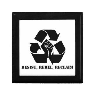Resist, Rebel, Reclaim Jewelry Boxes
