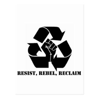 Resist, Rebel, Reclaim Postcard