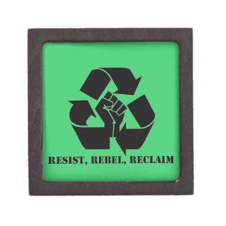 Resist, Rebel, Reclaim Premium Jewelry Boxes