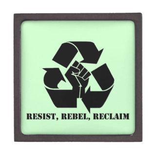 Resist, Rebel, Reclaim Premium Keepsake Box
