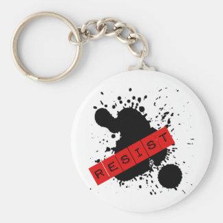 RESIST Rebellious Design Basic Round Button Keychain