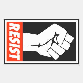 resist rectangular sticker