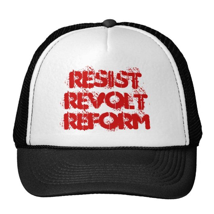 Resist Revolt Reform Trucker Hat