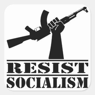 Resist Socialism AK Square Sticker