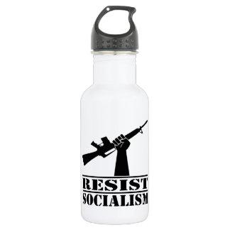 Resist Socialism  AR 18oz Water Bottle
