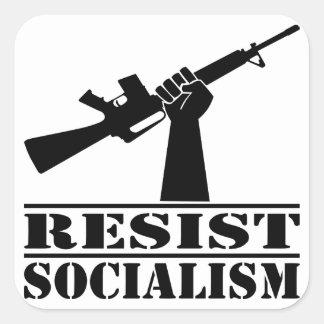 Resist Socialism  AR Square Sticker