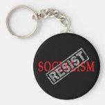 Resist Socialism keychain