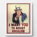 Resist Socialism Photo Plaque