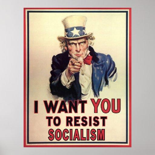 Resist Socialism Poster