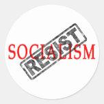 Resist Socialism stickers