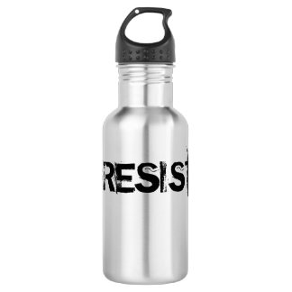#RESIST Stainless Steel Canteen - Black Text Stainless Steel Water Bottle