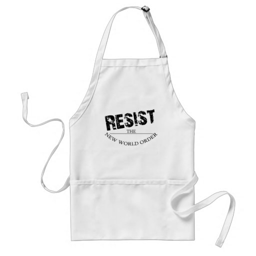 Resist The New World Order Adult Apron