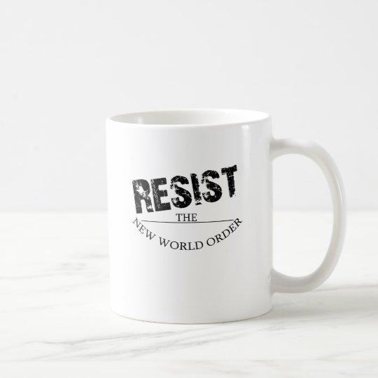 Resist The New World Order Coffee Mug