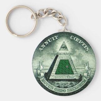 Resist the NEW WORLD ORDER Keychain