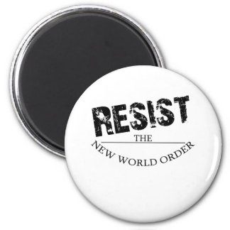 Resist The New World Order Refrigerator Magnets