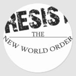 Resist The New World Order Round Stickers