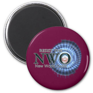 Resist the NWO 2 Inch Round Magnet