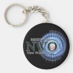 Resist the NWO Basic Round Button Keychain