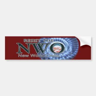 Resist the NWO Car Bumper Sticker