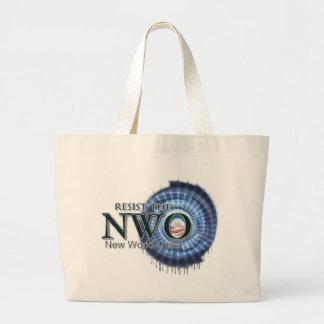 Resist the NWO Large Tote Bag
