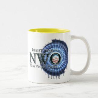 Resist the NWO Two-Tone Coffee Mug