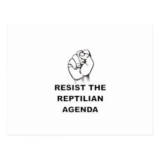 Resist The Reptilian Agenda Postcard