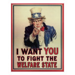 Resist the Welfare State Poster