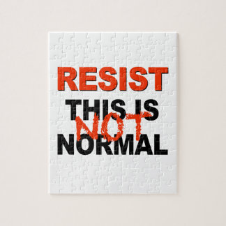 Resist - This is Not Normal Jigsaw Puzzle