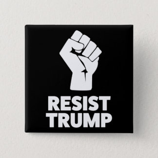 Resist Trump Clenched Solidarity Fist Button
