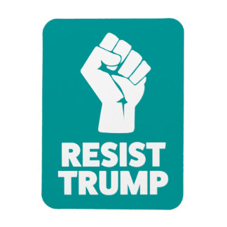 Resist Trump Clenched Solidarity Fist Magnet