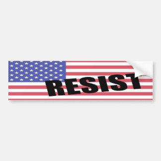 Resist Trump USA Flag Bumper Sticker