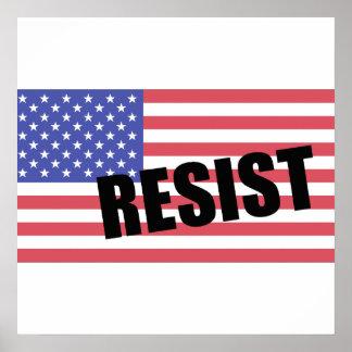 Resist Trump USA Flag Poster
