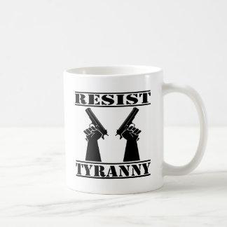 Resist Tyranny  Pistols Coffee Mug