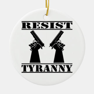 Resist Tyranny  Pistols Double-Sided Ceramic Round Christmas Ornament