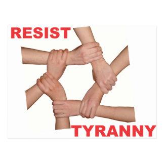 Resist Tyranny Postcard