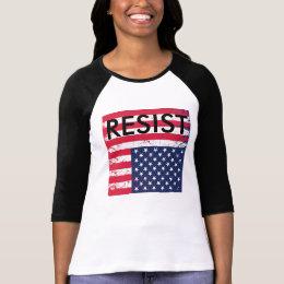 Resist Upside down Amerian Flag T-Shirt
