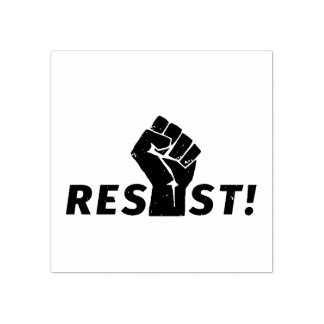 Resist with a Fist Rubber Stamp