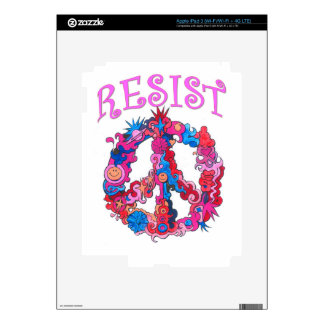 Resist with Peace iPad 3 Decal