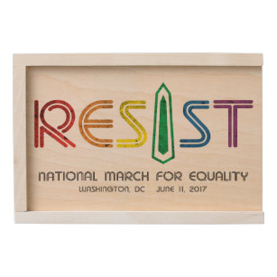 Resist Wooden Keepsake Box