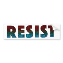 RESIST Word Art Bumper Sticker