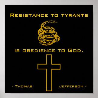 Resista a los tiranos, cristiano poster