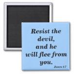 Resista al diablo y él huirá de verso de la biblia imán