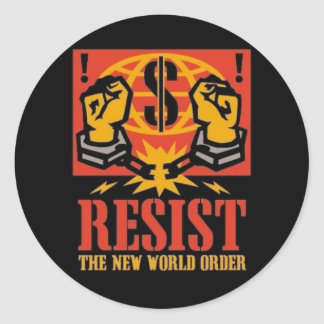 Resista al nuevo pegatina del orden mundial