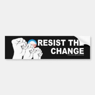 Resista el cambio pegatina de parachoque