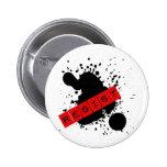 RESISTA el diseño rebelde Pins