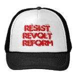 Resista la reforma de la rebelión gorras