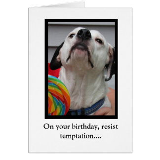 Resista la tentación tarjeta de felicitación