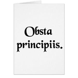 Resista los principios tarjeta de felicitación