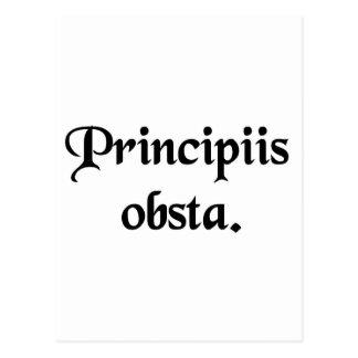 Resista los principios postal