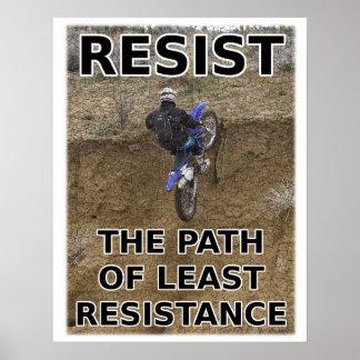 Resista menos poster del motocrós de la bici de la